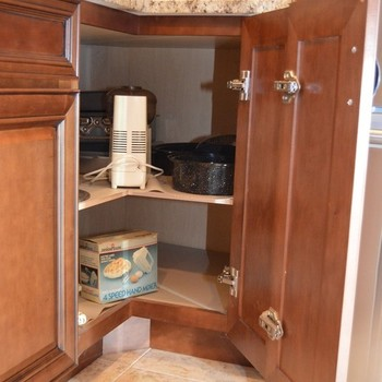 corner cabinet with reach in
